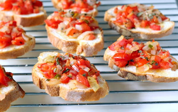 indian italian starter bruschetta recipe