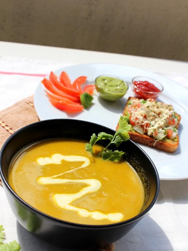 carrot coriander soup recipe