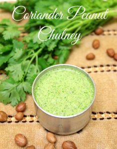 Coriander and peanut chutney