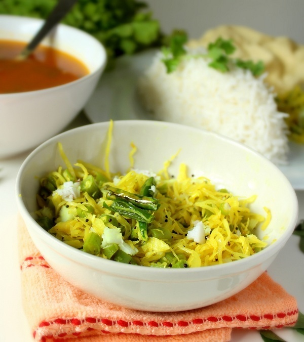 cabbage-green-beans-poriyal-recipe