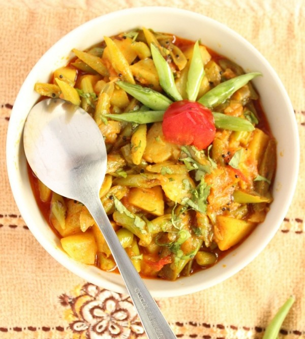 potato green beans sabzi