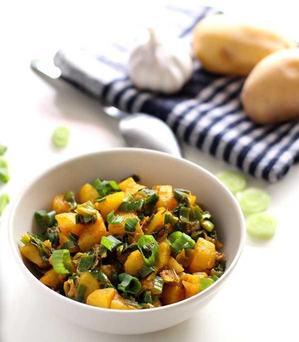 potato spring onion curry recipe
