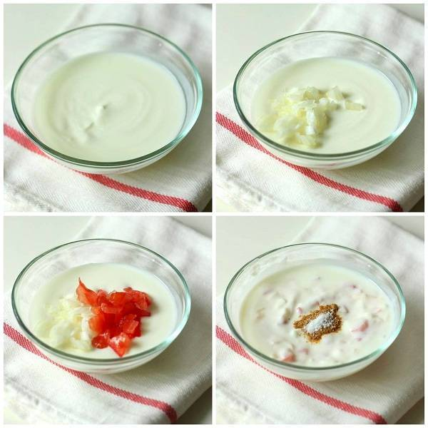 Onion Tomato Raita recipe ingredients