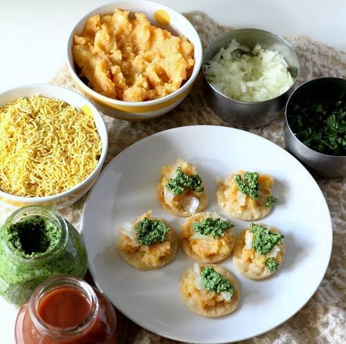 sev puri chaat step 4
