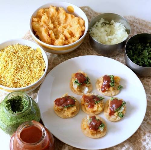 sev puri chaat step 5