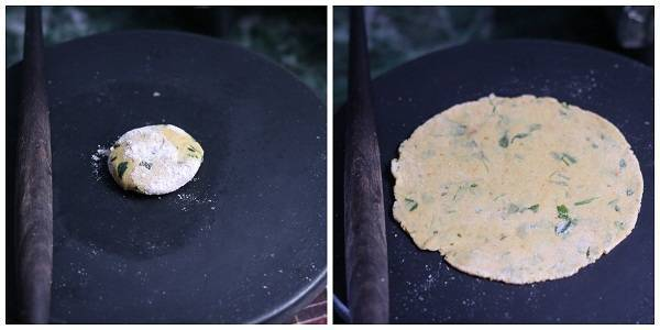 Methi Thepla Recipe making flat roti