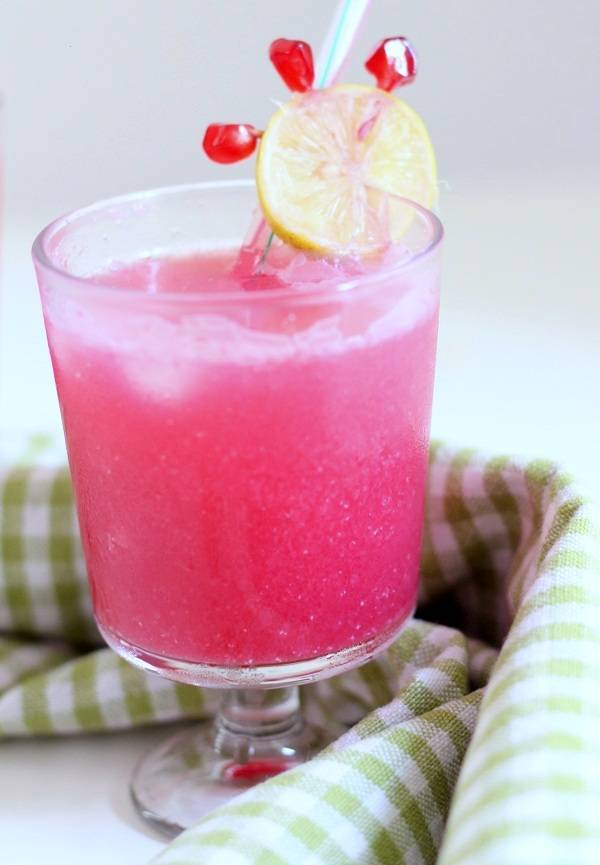 pomegranate lemonade welcome drink
