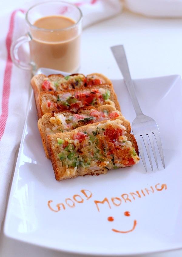 veg rava toast samolina toast recipe