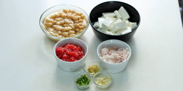 Chole Paneer Masala Recipe ingredients