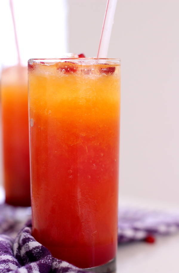 Pomegranate Orange juice recipe spritzer