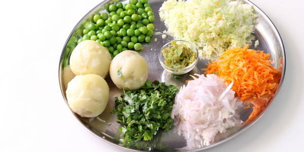 Vegetable Paratha ingredients