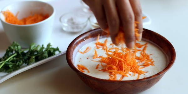 carrot raita recipe gajar