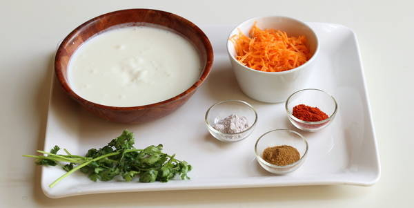 carrot raita recipe ingredients