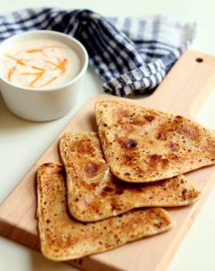 jeera paratha with raita recipe