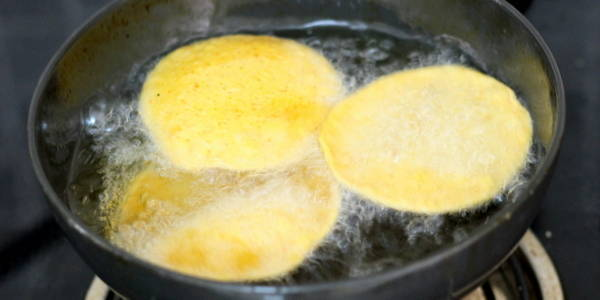 masala puri recipe deep frying oil