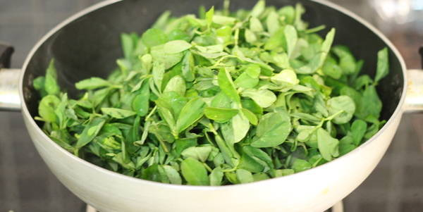 methi leaves in methi bhaji