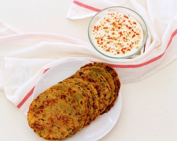 spicy vegetable paratha with curd