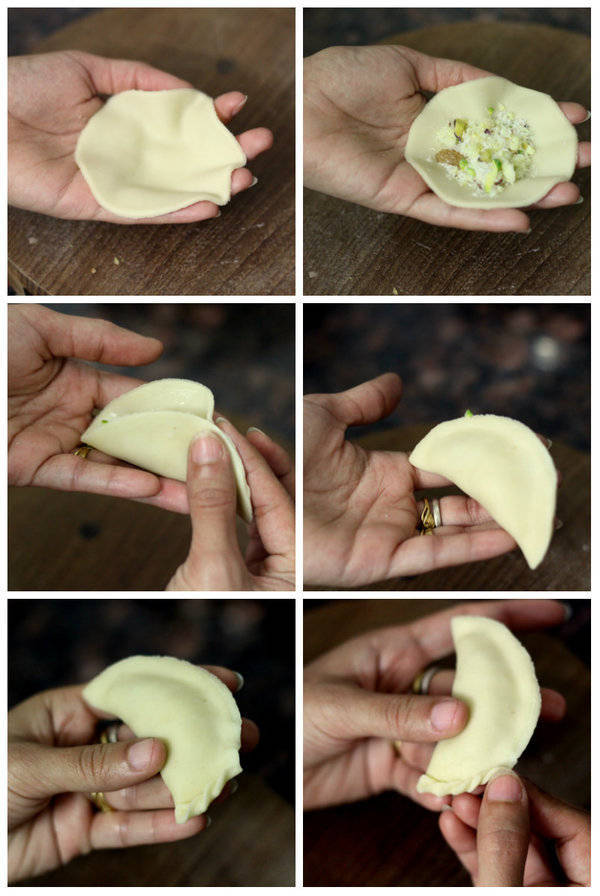 Gujiya Recipe folding