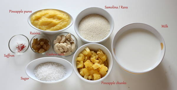 pineapple halwa recipe ingredients