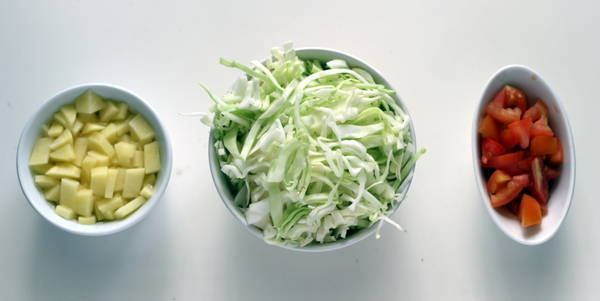 aloo cabbage sabzi ingredients