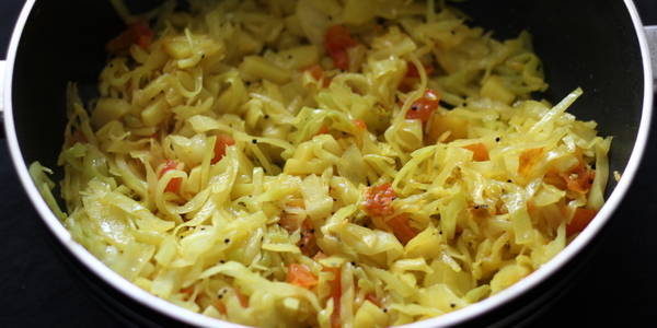 aloo cabbage sabzi stir fried cabbage in spices