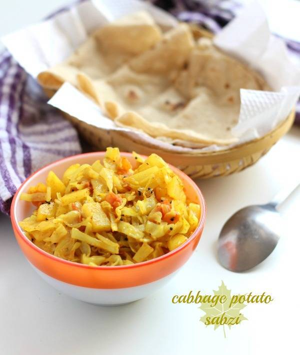 cabbage potato sabzi aloo patta gobi