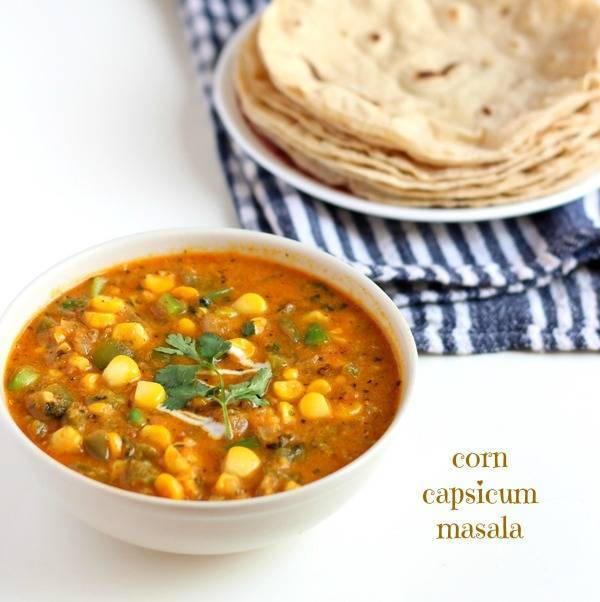 corn capsicum masala recipe step by step