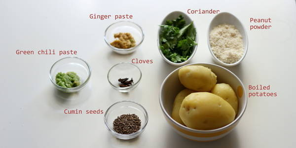 farali sukhi bhaji ingredients