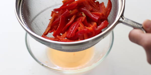 instant red chili pickle remove water from chilies