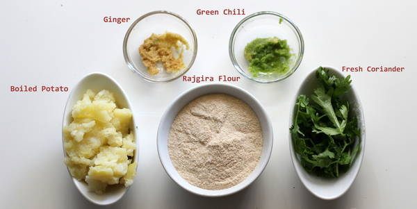 rajgira paratha ingredients