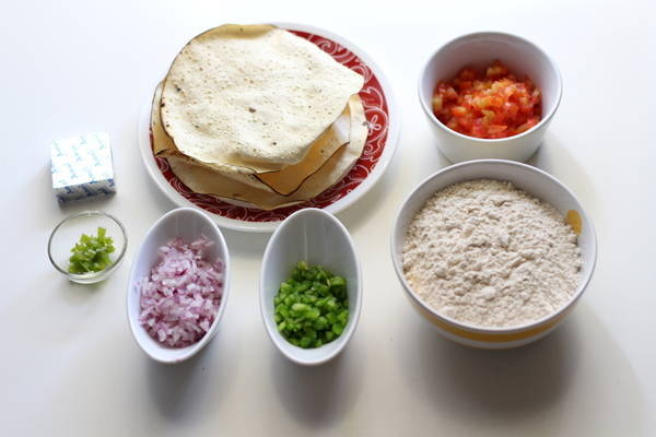 stuffed paratha with papad filling ingredients