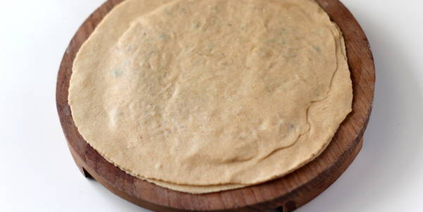Mooli Paratha after rorlling