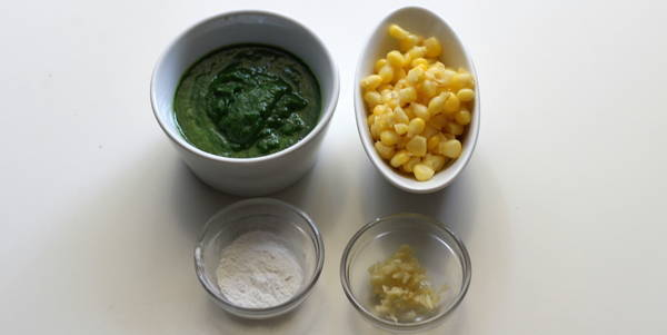 Palak Corn Soup ingredients
