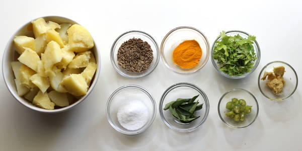 Puri Bhaji bhaji ingredients