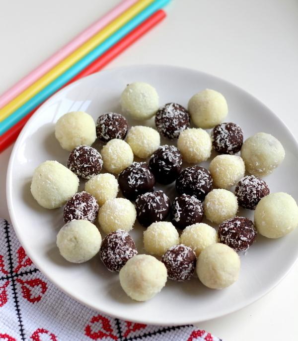 Chocolate Coconut Balls with Condensed Milk