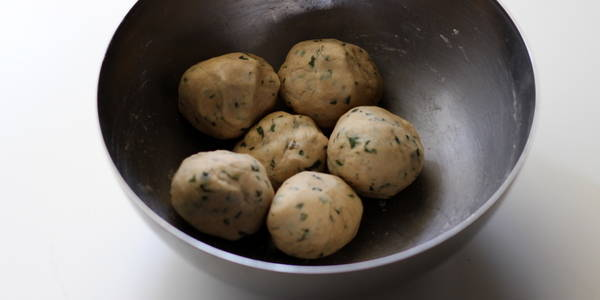 pudina paratha recipe step making paratha balls