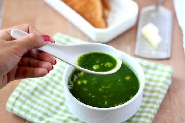 spinach sweet corn soup recipe