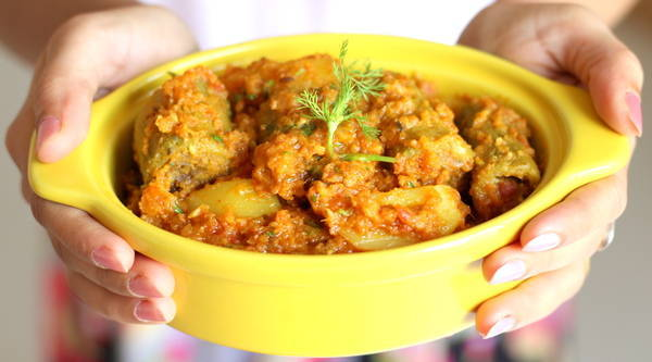 stuffed karela recipe with potato