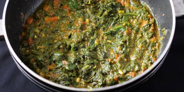 palak fry recipe step ready