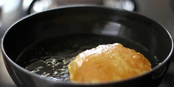 poori recipe turn other side