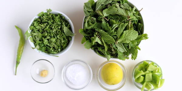 mint chutney ingredients