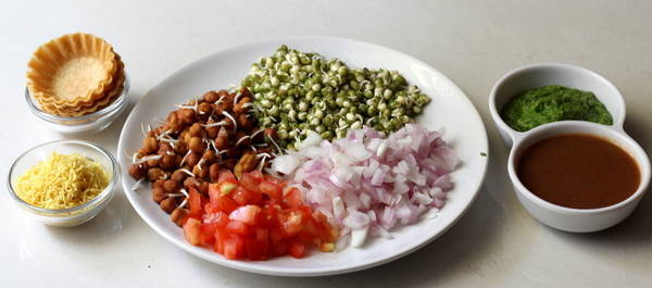 canapes chaat  ingredients