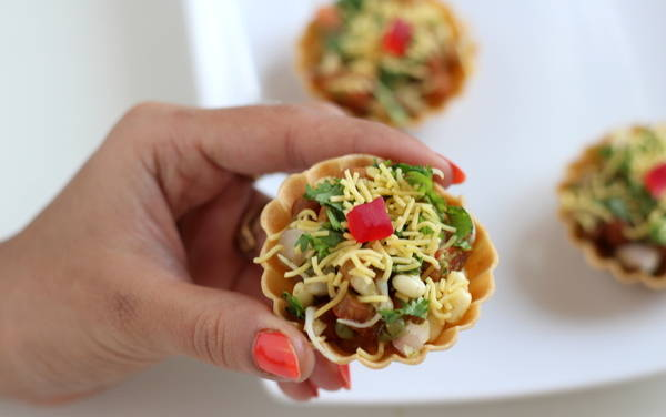 canapes chaat recipe basket chaat