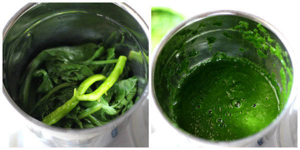 palak paneer recipe puree