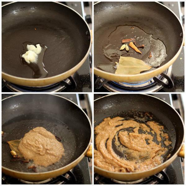 paneer kali mirch cook the gravy