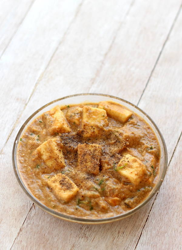 restaurant style paneer kali mirch curry recipe