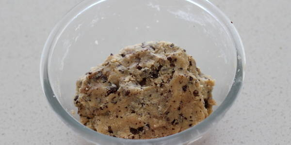 eggless Chocolate Chips Cookie dough is ready