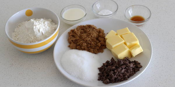 eggless Chocolate Chips Cookie ingredients