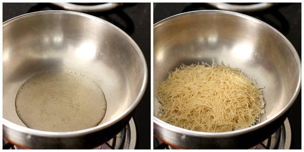 seviyan kheer recipe add ghee and sev