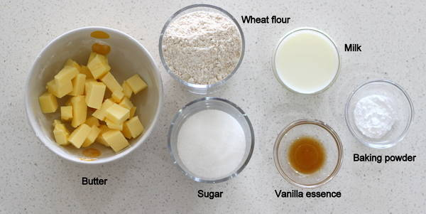 eggless whole wheat biscuits ingredients
